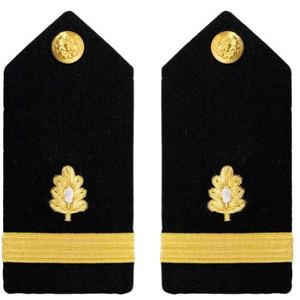 Navy Ensign Hard Shoulder Board- Medical Corps – female