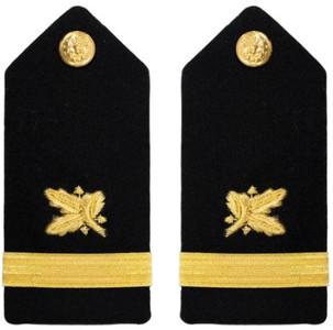 Navy Ensign Hard Shoulder Board- Supply Corps – female