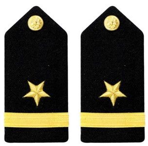 Navy Ensign Hard Shoulder Board- Line - female