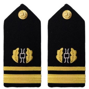 Navy Lieutenant Junior Grade Hard Shoulder Board- Judge Advocate – female
