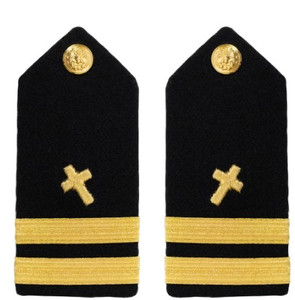 Navy Lieutenant Hard Shoulder Board- Christian Chaplain – female