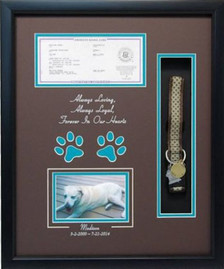 16 x 20 Pet Memorial Shadow Box Frame #10