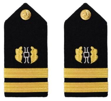 Navy Lieutenant Hard Shoulder Board- Judge Advocate – female