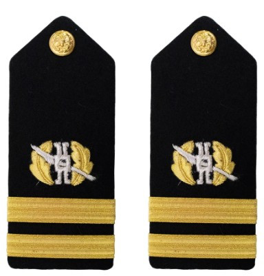 Navy Lieutenant Hard Shoulder Board- Law Community