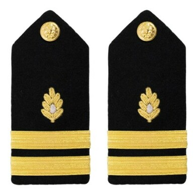 Navy Lieutenant Hard Shoulder Board- Medical Corps – female