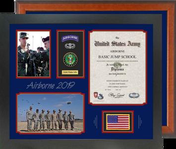 "18"" x 22"" Airborne Jump School Certificate Frame"