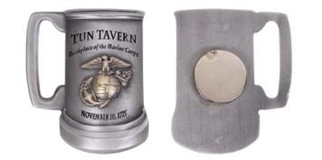 "Marine Corps Magnet 2"" Coin Marine Corps Tun Tavern Antique Silver"
