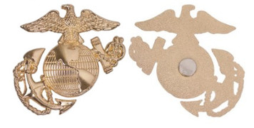 """Marine Corps Magnet 2.5"""" Coin Eagle, Globe and Anchor – Gold"""