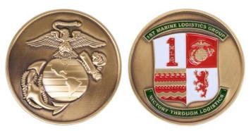 Marine Corps Coin 1st Marine Logistics Group