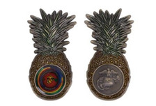Marine Corps Coin  Air Station Kaneohe Bay Pineapple Shape