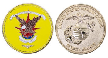 """Marine Corps Coin 1.75"""" Cherry Point Support and Training"""