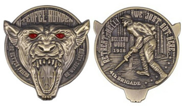 "Marine Corps Coin 2"" Teufel Hunden Devil Dog"