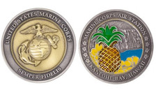 "Marine Corps Coin 2"" Marine Corps Air Station Kaneohe Bay"