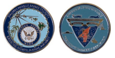 Navy Coin Pacific Missile Range Facility Barking Sands, Kauai, Hawaii