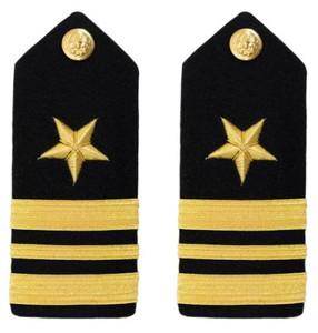 Navy Lieutenant Commander Hard Shoulder Board- Line- female