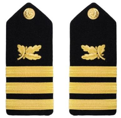 Navy Commander Hard Shoulder Board- Supply Corps – female