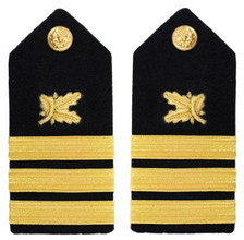 Navy Commander Hard Shoulder Board- Supply Corps