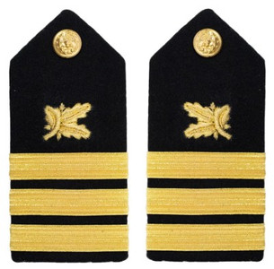 Navy Commander Hard Shoulder Board- Supply Corps