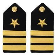 Navy Commander Hard Shoulder Board- Line- female