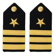 Navy Commander Hard Shoulder Board- Line- female