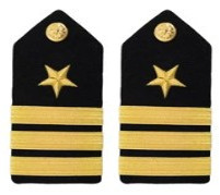 Navy Commander Hard Shoulder Board- Line