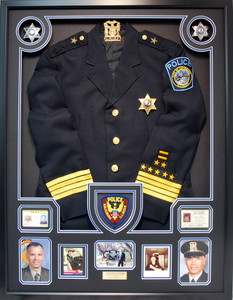Police Chief Retirement Shadow Box Display