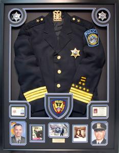 Police Chief Retirement Shadow Box Display