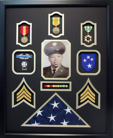 U.S. Army Vietnam Veteran Shadow Box Display