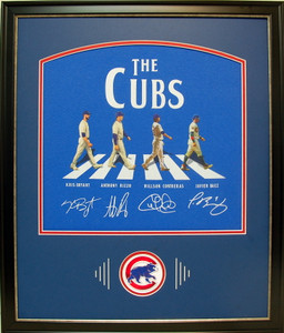 Chicago Cubs Abbey Road Style Autographed Display Frame