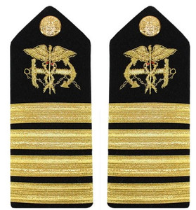 Navy Captain Hard Shoulder Board- Public Health Service