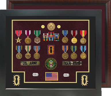 "20"" x 24"" Ordnance Open Shadow Box Display Square Corner"