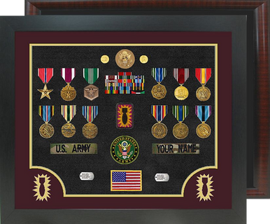 "20"" x 24"" Ordnance Open Shadow Box Display Round Corner"