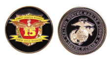 """Marine Corps Coin 1 3/4"""" Marine Corps 15th Combat Logistic Regiment"""
