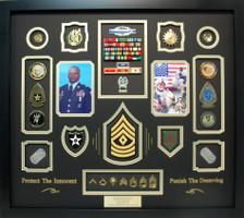 Army First Sergeant Retirement Shadow Box Display