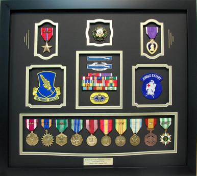 Lieutenant Colonel Vietnam Veteran Shadow Box Display