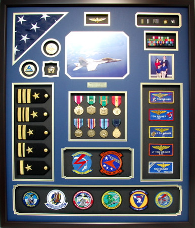U.S. Navy CDR Retirement Shadow Box Display