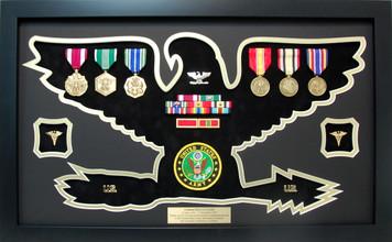 U.S. Colonel Rank Shaped Retirement Shadow Box