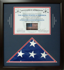 4'x6' Cotton Flag with Certificate Display Frame