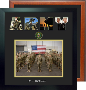"15"" x 16"" Army Landscape Photo Font Frame"