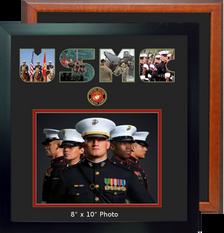 "15"" x 16"" Marine Corps Landscape Photo Font Frame"