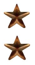 """Ribbon Attachment 5/16"""" One Star Bronze - pair"""