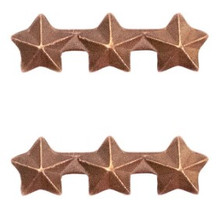 "Ribbon Attachment 3/16"" Three Star Bronze - pair"