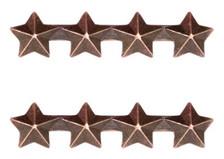 "Ribbon Attachment 3/16"" Four Star Bronze - pair"