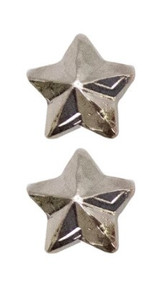 """Ribbon Attachment 3/16"""" One Star Silver – pair"""