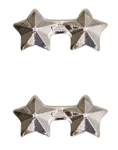 "Ribbon Attachment 3/16"" Two Star Silver – pair"