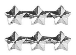 """Ribbon Attachment 3/16"""" Three Star Silver – pair"""