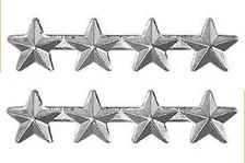 """Ribbon Attachment 3/16"""" Four Star Silver – pair"""