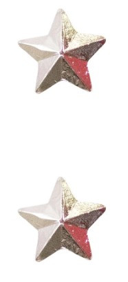 """Ribbon Attachment 5/16"""" One Star Silver - pair"""