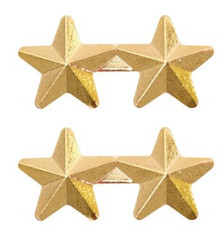"""Ribbon Attachment 5/16"""" Two Star Gold - pair"""