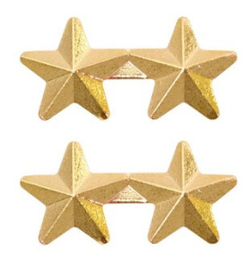 "Ribbon Attachment 5/16"" Two Star Gold - pair"